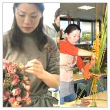 デザイナーが花を製作します