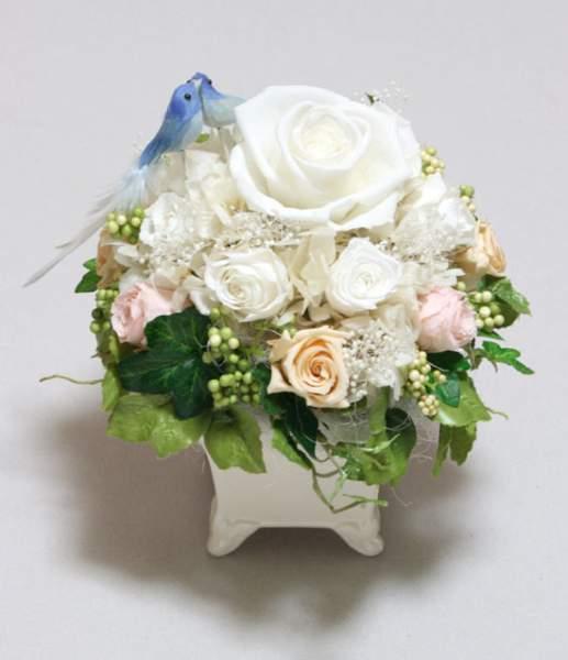 オーダーメイド 結婚祝い 青い鳥のアレンジメント