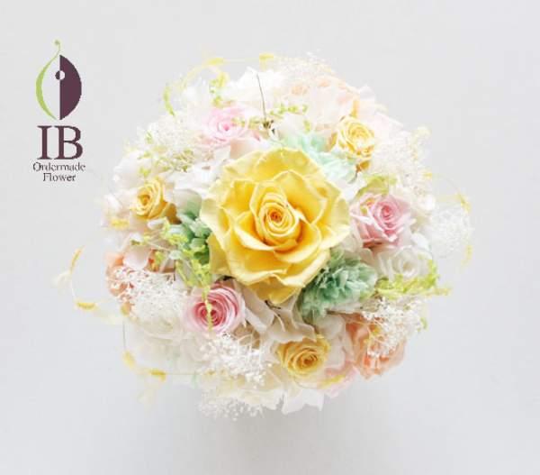プリザードフラワー オーダーメイド 還暦お祝いのお花