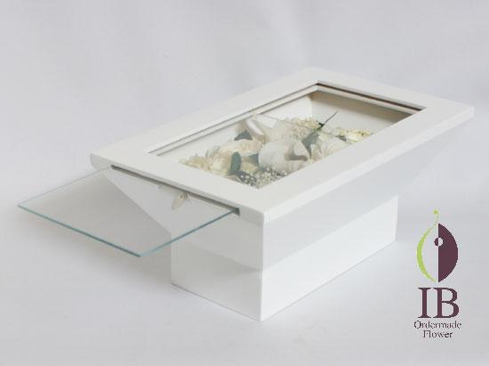 スライドガラス式ウッドボックス