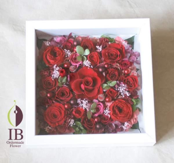 B5サイズアートフレーム 赤いバラ 還暦お祝い