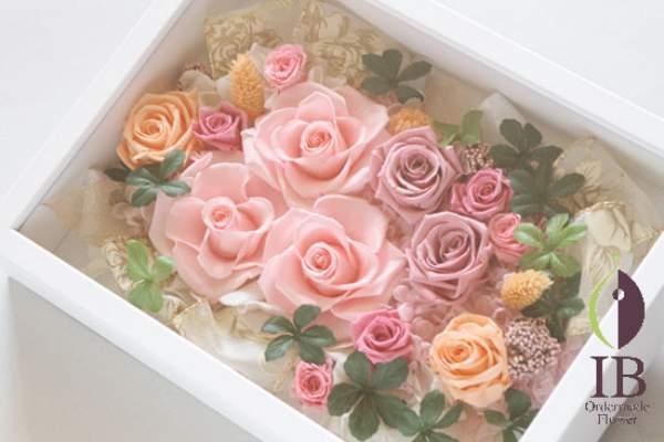 フレームのお花 プリザードフラワー