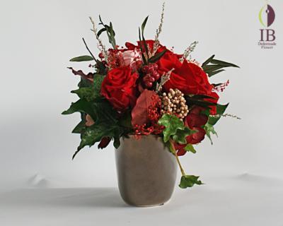 プリザードフラワー 赤いバラ