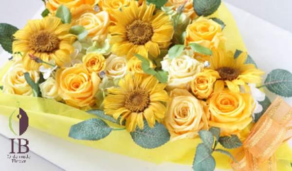 プリザードフラワー 開院お祝い フレームのお花