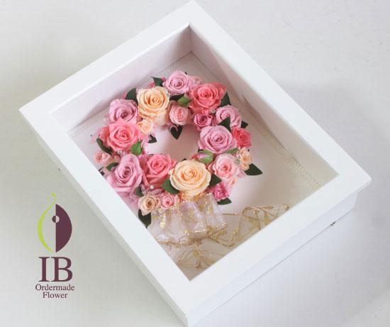 プリザーブドフラワー フレームリース装飾花