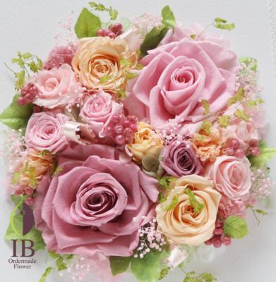 木製フレームのお花