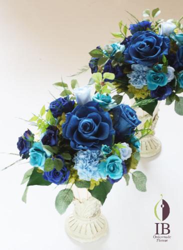 母の日のプレゼント 青いバラのアレンジ