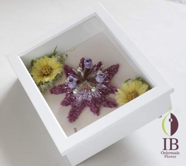 プリザーブドフラワー フレーム装飾花