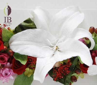 プリザ カサブランカ フレーム装飾