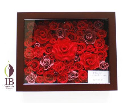 プリザードフラワー 還暦 60輪赤いバラ