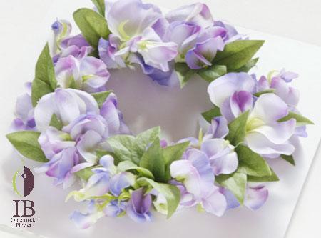 フラワーアート 藤のお花リース フレーム装飾