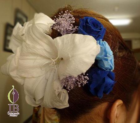 プリザーブドフラワー 成人式 髪飾り