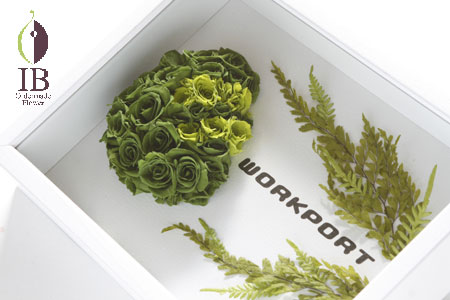プリザードフラワー 移転御祝い 企業ロゴ装飾