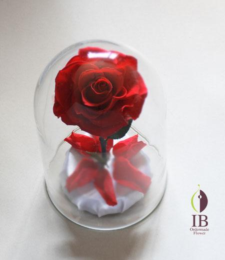 プリザードフラワー バラ チェリーレッド