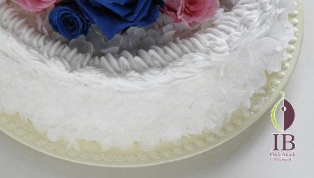 プリザーブドフラワー ケーキ ホイップクリーム