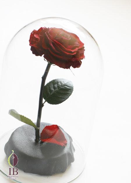 プリザードフラワー 一輪のバラ ドーム