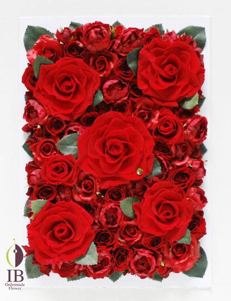プリザーブフラワー 還暦お祝い 60輪の赤いバラ