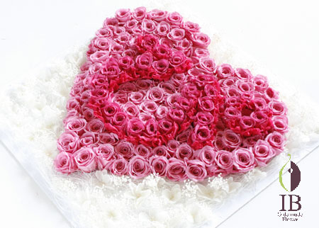 プリザーブフラワー バラ プリンセスピンク