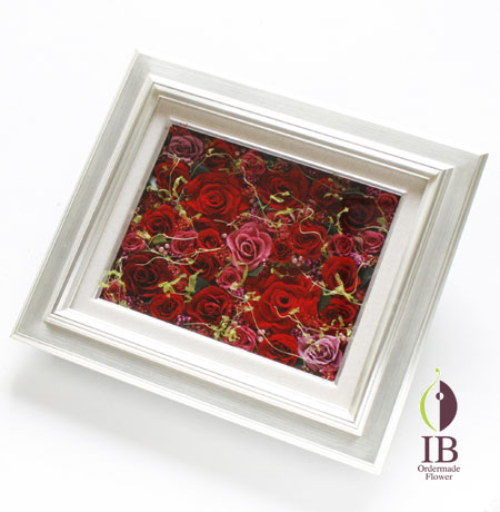 プリザードフラワー 豪華赤いバラ 還暦祝い