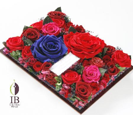 プリザーブド バラのフレーム装飾 オーダーメイド