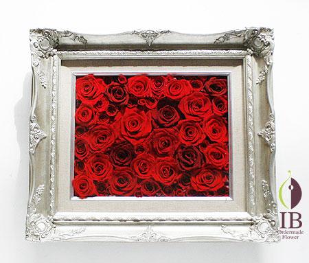 プリザードフラワー開店お祝い 赤いばら豪華フレーム