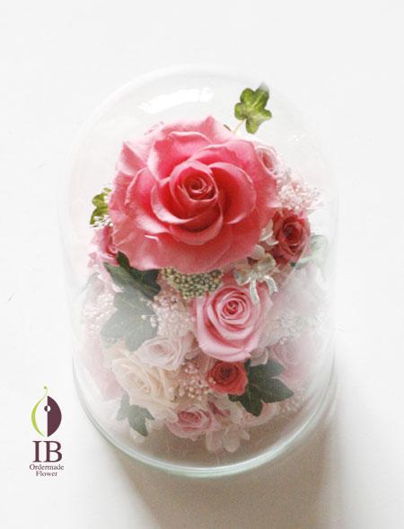 プリザーブド プロポーズ ガラスドーム装飾