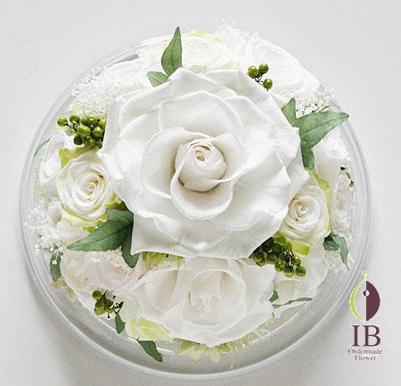 プリザ バラ パールホワイト