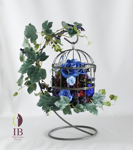 プリザーブド 鳥かご装飾