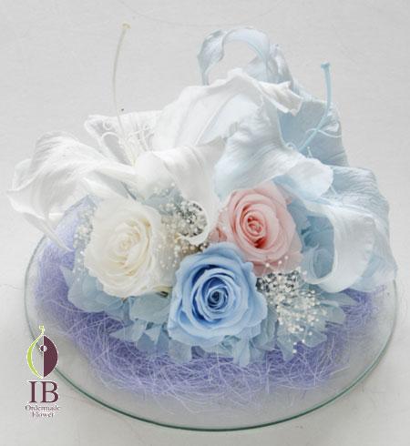 プリザーブドフラワー ドームのお花 結婚お祝い