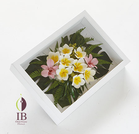 プリザ プルメリア 南国イメージのお花