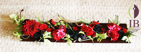 プリザーブフラワー ダリア 和風 フレーム装飾