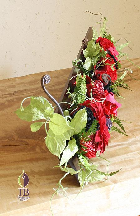 プリザーブド ダリア 和風 フレーム装飾