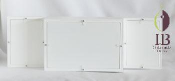 横置き型 フォトフレーム 白