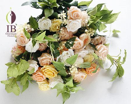 プリザーブドフラワー 両親贈呈用 花束イエロー