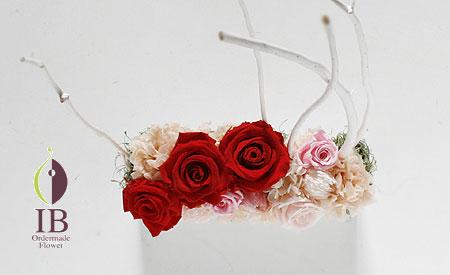 プリザーブドフラワ- リニュアルオープンお祝いのお花