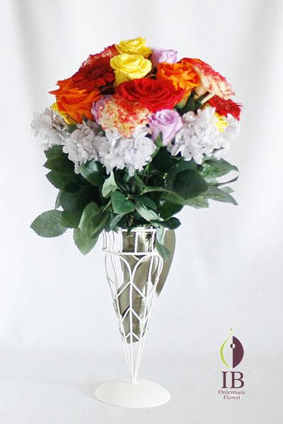 プリザ ラウンド型花束