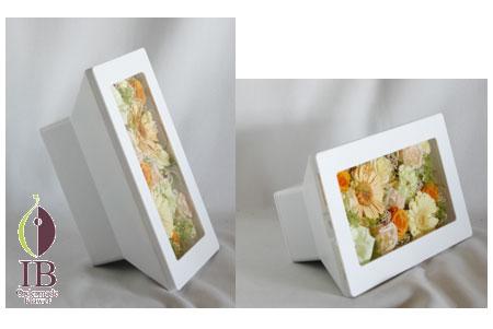 プリザーブド ガーベラ フレーム装飾 オーダーメイド