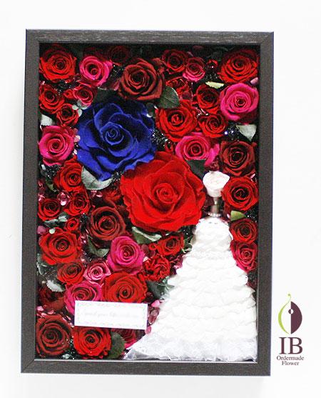 プリザーブドフラワ- プロポーズ フレーム装飾