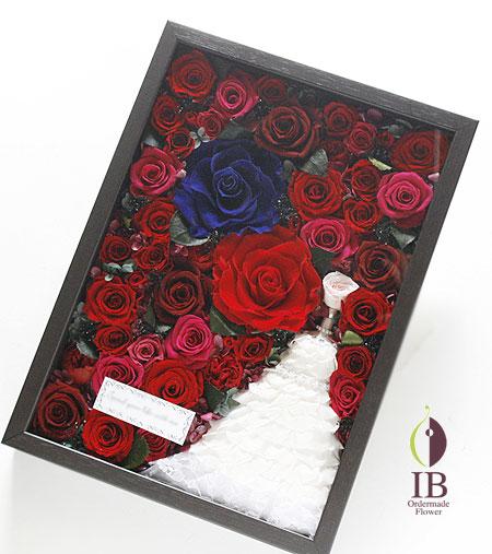 プリザーブドフラワー プロポーズのお花 赤いバラ