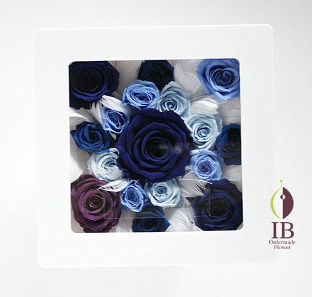 ブルーのバラ  プリザードフラワー