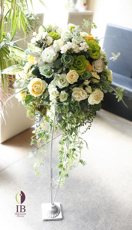プリザードフラワー 待合室のお花