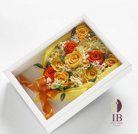 プリザーブドフラワー 金婚式 花束フレーム