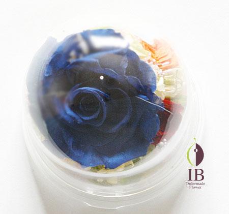 プリザーブドフラワ- 青いバラのドームアレンジ