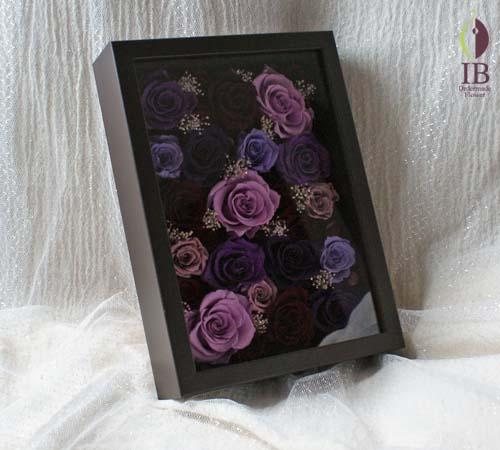 紫バラプリザーブド