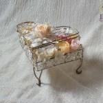 ピアノ型リングピローお花プリザーブド